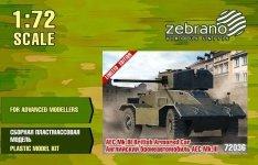 Zebrano 72036 AEC Mk.III British Armored Car 1/72