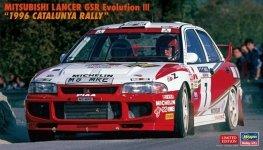 Hasegawa 20510 Mitsubishi Lancer GSR Evolution III 1996 Catalunya Rally 1/24
