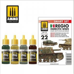 AMMO of Mig Jimenez 7180 Regio Esercito Color Set 4x17ml