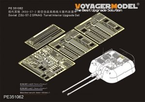 Voyager Model PE351062 Soviet ZSU-57-2 SPAAG Turret Interior Upgrade Set for Takom 1/35