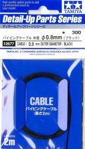 Tamiya 12677 Cable OD 0.8mm black Length 2m