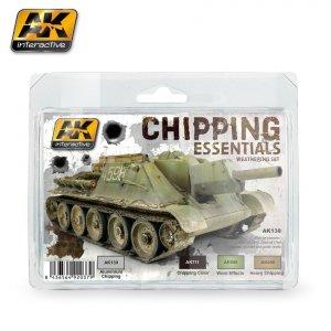 AK Interactive AK 138 CHIPPING ESSENTIALS WEATHERING SET