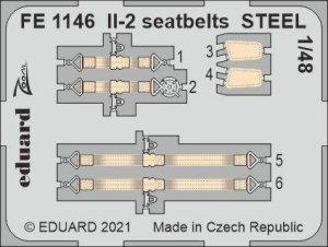 Eduard FE1146 Il-2 seatbelts STEEL ZVEZDA 1/48