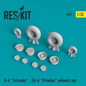 RESKIT RS32-0001 A-6 Intruder , EA-6 Prowler wheels set Trumpeter 1/32