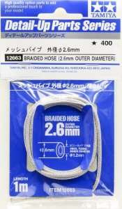 Tamiya 12663 Braided Hose Outer Diameter 2.6 mm