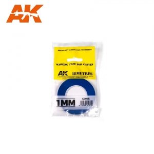 AK Interactive AK 9181 MASKING TAPE FOR CURVES 1MM