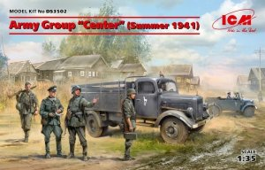 ICM DS3502 Army Group Center (Summer 1941) (Kfz.1, Typ L3000S, German Infantry (4 figures), German Drivers (4 figures) 1/35