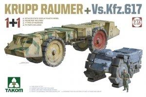 Takom 5007 Krupp Räumer + Vs.Kfz. 617 1/72