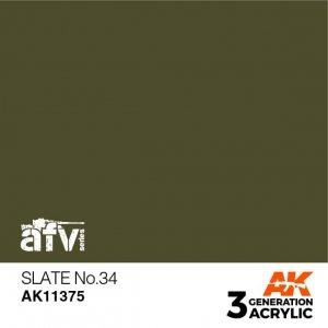 AK-Interactive AK 11375 Slate No.34 17ml