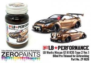Zero Paints ZP-1626 Black Gold Paint for LB Works Nissan GT-R R35 Type 2 Ver.1 60ml