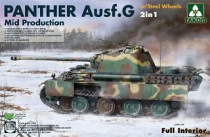 Takom 2120 Panther G Mid Production with Steel Wheels 2 in 1 1/35