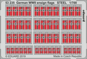 Eduard 53235 German WWII ensign flags STEEL 1/700
