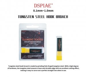 DSPIAE HC-07 0.7mm Tungsten Steel Hook Broach / Rysik ze stali wolframowej
