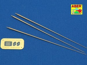 Aber R-26 German 2m antenna rods (set of 3 pcs.) (1:35)