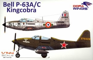 Dora Wings 14401 BELL P-63A P-63C KINGCOBRA Fighter DOUBLE KIT 1/144