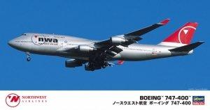 Hasegawa 10834 Northwest Airlines Boeing 747-400 1/200