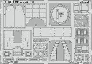 Eduard 491180 B-17F cockpit HKM 1/48