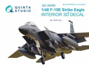 Quinta Studio QD48090 F-15E 3D-Printed & coloured Interior on decal paper (for GWH kit) 1/48