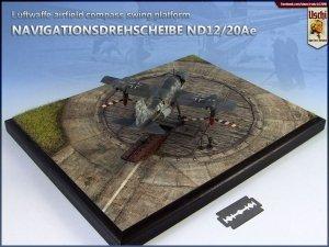 Uschi 3046 Display diorama Luftwaffe Compass Swing Ramp circular 1/72