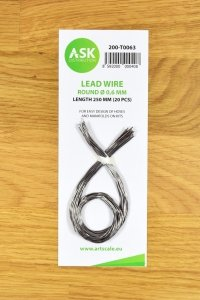 ASK T0063 Lead Wire - Round Ø 0,6 mm x 250 mm (20 pcs)