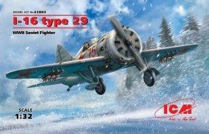 ICM 32003 I-16 type 29, WWII Soviet Fighter 1/32