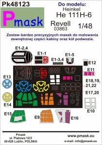 P-Mask PK48123 He 111H-6 (Revell 03863) 1/48