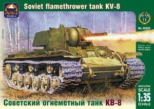 Ark Models 35028 Russian heavy flamethrower tank KV-8 (1:35)