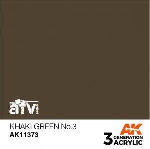 AK-Interactive AK 11373 Khaki green No.3 17ml