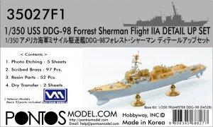 Pontos 35027F1 USS DDG-98 Forrest Sherman Flight IIa Detail up set 1/350
