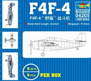 Trumpeter 04205 F4F-4 wild cat fighter 1/200