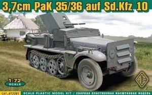 ACE 72281 German 37mm PaK 35/36 auf Sd.Kfz 10 (1:72)