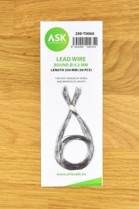 ASK T0060 Lead Wire - Round Ø 0,3 mm x 250 mm (30 pcs)