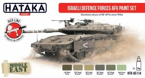 Hataka HTK-AS114 Israeli Defence Forces AFV paint set 6x17 ml