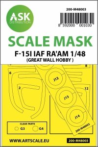 ASK M48003 F-15I Ra'am double-sided painting mask for Great Wall Hobby 1/48