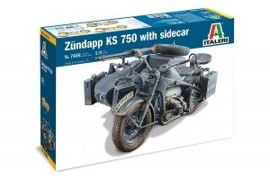 Italeri 7406 ZUNDAPP KS 750 with Sidecar 1/9