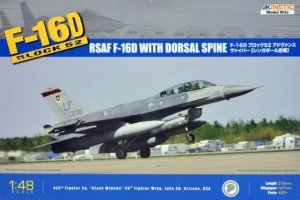 Kinetic K48007 F-16D Block 52 Singapore AF Advanced Viper A (with Dorsal Spine) (1:48)