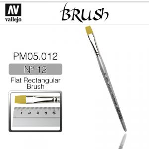 Vallejo PM05012 Brush Flat Rectangular Brush N12