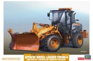 Hasegawa 66102 Hitachi Wheel Loader ZW100-6 Multiplow (Snowplow) Working Machine 1/35