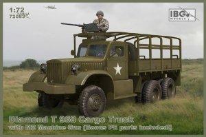 IBG 72083 Diamond T 968 Cargo Truck with M2 Machine Gun (Bonus PE parts included) 1/72