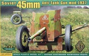 ACE 72242 Soviet 45mm Anti-Tank gun model 1937 (1:72)