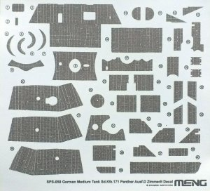 Meng Model SPS-058 Sd.Kfz.171 Panther Ausf.D Zimmerit Decal 1:35