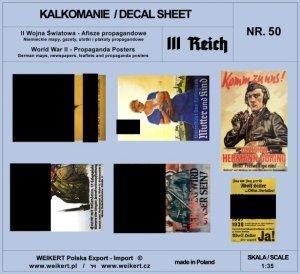 Weikert Decals DEC250 II Wojna Światowa - Niemieckie afisze propagandowe 1/35