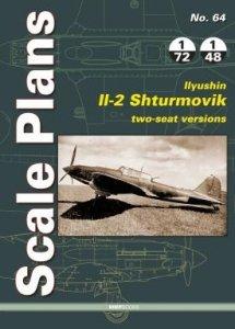 Stratus 58679 Scale Plans No. 64. Ilyushin Il-2 Shturmovik, Two-Seat Versions