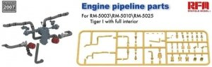Rye Field Model 2007 Engine pipeline parts for RM-5003 RM-5010 RM-5025 Tiger I 1/35