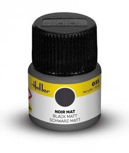 Heller 9033 033 Black - Matt 12ml