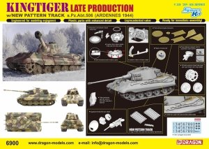 Dragon 6900 Kingtiger Late Production w/New Pattern Track s.Pz.Abt.506 Ardennes 1944 (1:35)