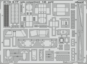 Eduard 491182 B-17F radio compartment HKM 1/48