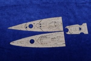 MK1 Design MD-70017 TIRPITZ Wooden Deck for Trumpeter 1/700