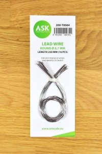 ASK T0064 Lead Wire - Round Ø 0,7 mm x 250 mm (16 pcs)