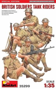 Miniart 35299 BRITISH SOLDIERS TANK RIDERS. SPECIAL EDITION 1/35